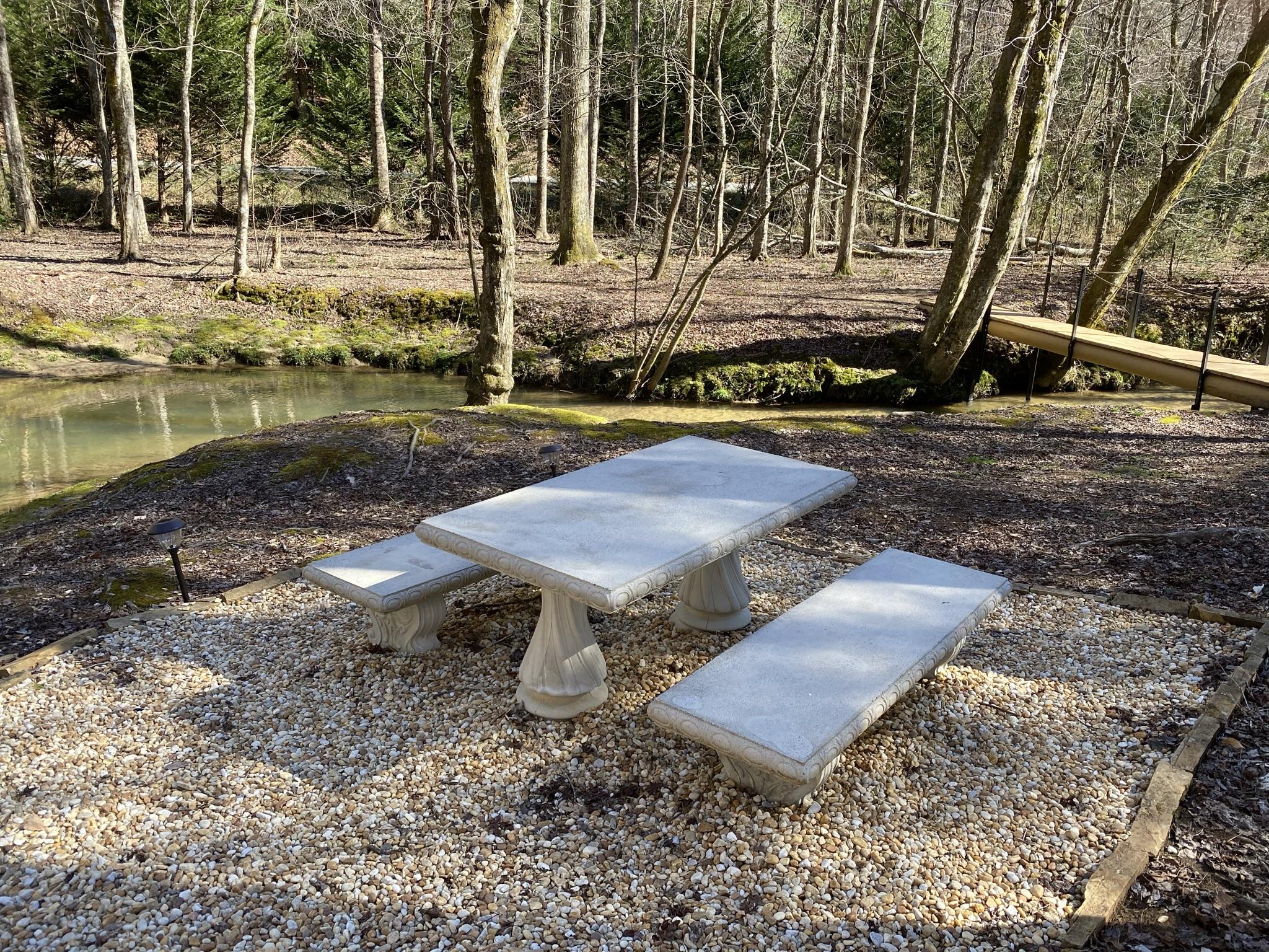 Enjoy a picnic by Sugar Creek.